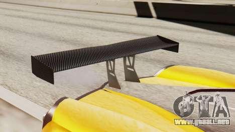 Pegassi Osyra Full Extras para GTA San Andreas vista hacia atrás