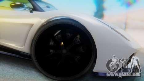 GTA 5 Pegassi Osiris IVF para GTA San Andreas vista hacia atrás