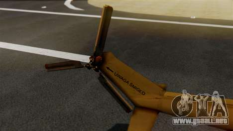 PZL W-3PL Grouse para GTA San Andreas vista posterior izquierda