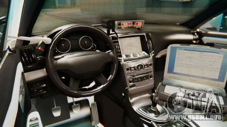 Ford Taurus Iraq Police v2 para GTA San Andreas vista hacia atrás