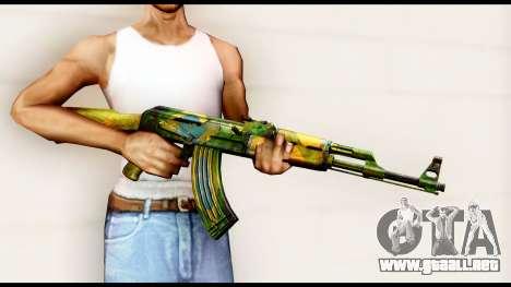 Brasileiro AK-47 para GTA San Andreas tercera pantalla