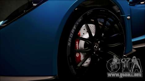 Hennessey Venom GT 2012 U.S.A American para vista lateral GTA San Andreas