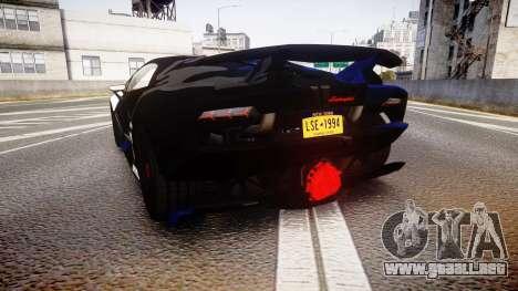 Lamborghini Sesto Elemento 2011 para GTA 4 Vista posterior izquierda