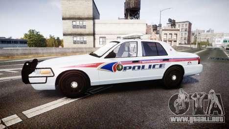 Ford Crown Victoria Bohan Police [ELS] para GTA 4 left