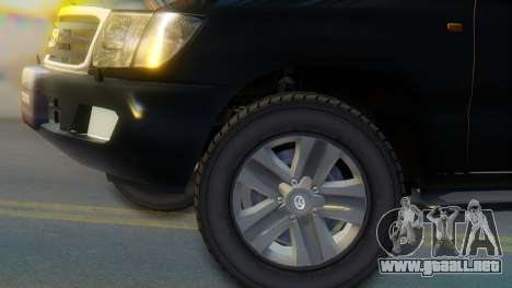 Toyota Land Cruiser 105 para GTA San Andreas vista posterior izquierda