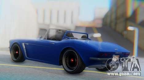 Invetero Coquette BlackFin Convertible para GTA San Andreas left