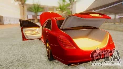Mercedes-Benz S63 W222 AMG para visión interna GTA San Andreas
