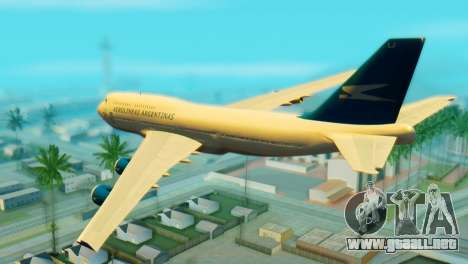 Boeing 747 Argentina Airlines para GTA San Andreas left