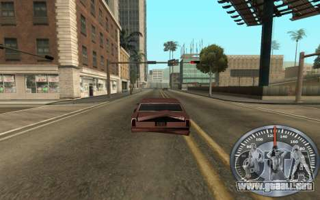 Hierro velocímetro para GTA San Andreas tercera pantalla