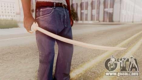 Red Dead Redemption Katana Crome Sword para GTA San Andreas segunda pantalla