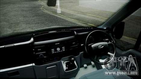 Ford Transit SSV 2011 para GTA San Andreas vista posterior izquierda
