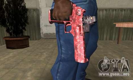 Red Chest Deagle para GTA San Andreas segunda pantalla