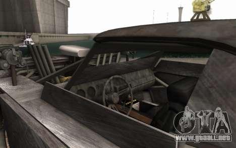 Dodge Charger Infernal Bulldozer para GTA San Andreas vista hacia atrás