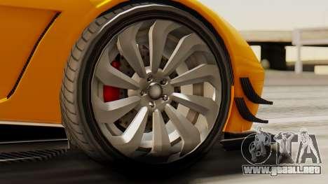 Pegassi Osyra Full Extras para GTA San Andreas vista posterior izquierda