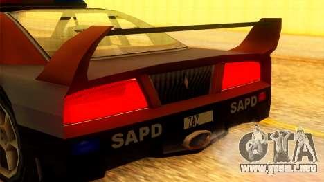 Police Turismo para la visión correcta GTA San Andreas