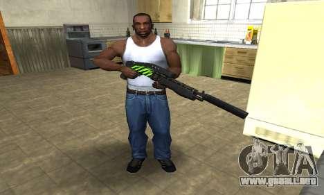 SPAS-12 Green Lines para GTA San Andreas tercera pantalla