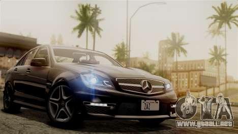 Mercedes-Benz C63 AMG 2015 Edition One para vista lateral GTA San Andreas