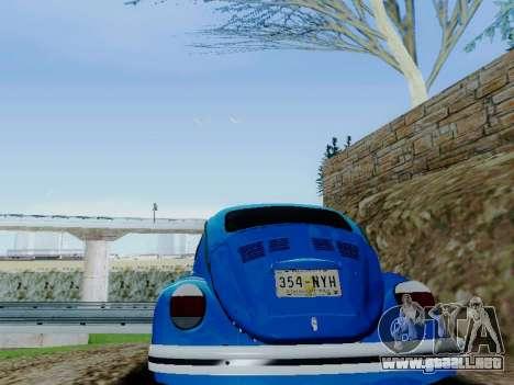 Volkswagen Beetle 1980 Stanced v1 para vista inferior GTA San Andreas