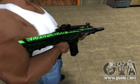 Full Green M4 para GTA San Andreas