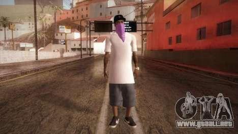 East Side Ballas Member para GTA San Andreas segunda pantalla