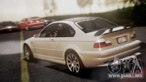 BMW M3 GTR Street Edition para GTA San Andreas left