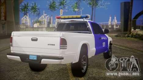 Dodge Dakota Iraqi Police para GTA San Andreas left