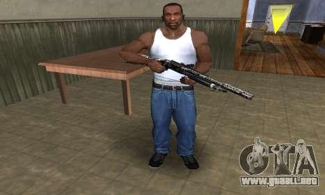 Black Flowers Shotgun para GTA San Andreas tercera pantalla