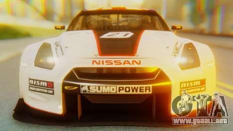 Nissan GT-R GT1 Sumo Tuning para visión interna GTA San Andreas