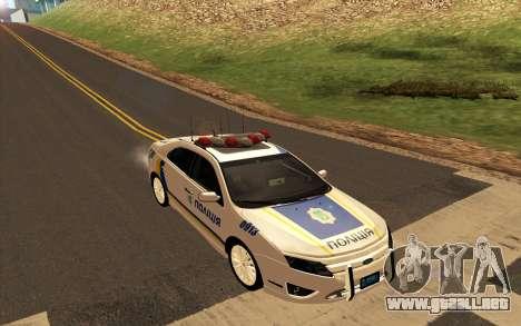 Ford Taurus Ukraine Police para GTA San Andreas vista posterior izquierda
