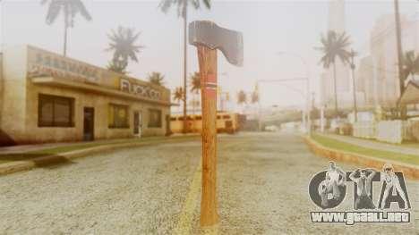 GTA 5 Hatchet v1 para GTA San Andreas segunda pantalla