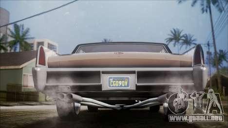 GTA 5 Vapid Chino IVF para GTA San Andreas vista hacia atrás