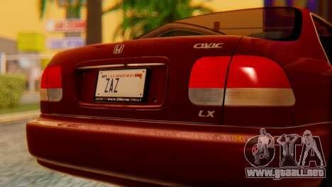 Honda Civic JnR Tuning para GTA San Andreas vista hacia atrás