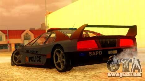 Police Turismo para GTA San Andreas left