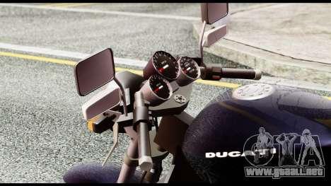 Ducati FCR-900 v4 para GTA San Andreas vista hacia atrás
