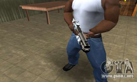 White Shotgun para GTA San Andreas segunda pantalla