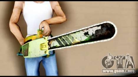 Brasileiro Chainsaw para GTA San Andreas tercera pantalla