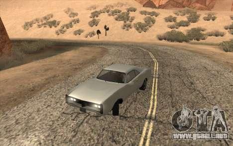 Imponte Dukes SA Style para GTA San Andreas vista posterior izquierda