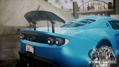 Hennessey Venom GT 2012 U.S.A American para visión interna GTA San Andreas