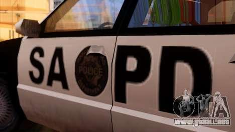 Police SA Premier para GTA San Andreas vista posterior izquierda