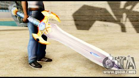 Espada del paladín para GTA San Andreas segunda pantalla