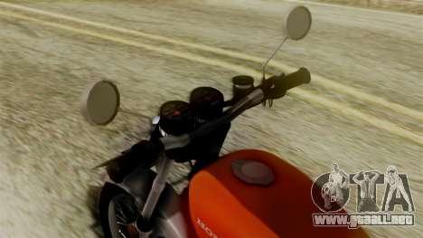 Honda CG 125 Classic para GTA San Andreas vista posterior izquierda