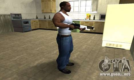 White with Black Shotgun para GTA San Andreas tercera pantalla