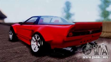 Honda NSX para GTA San Andreas left