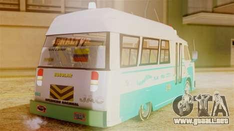JAC Microbus para GTA San Andreas left