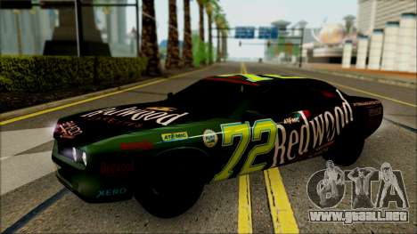 GTA 5 Bravado Gauntlet Redwood HQLM para GTA San Andreas vista hacia atrás