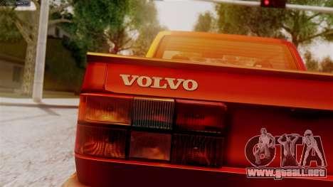 Volvo 940 A-traktor para GTA San Andreas vista posterior izquierda