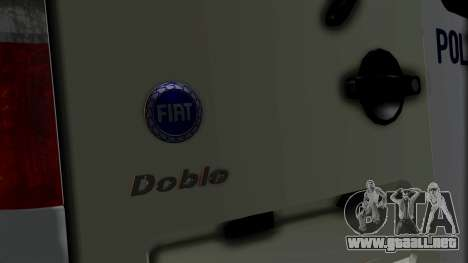 Fiat Doblo PPX para GTA San Andreas vista hacia atrás