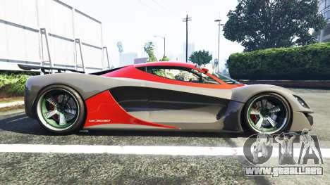 GTA 5 Grotti Turismo R La Ferrari vista lateral izquierda