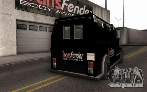 Máquina de la entrega de piezas de ajuste para la visión correcta GTA San Andreas