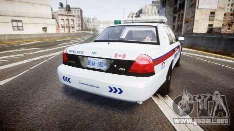 Ford Crown Victoria Bohan Police [ELS] para GTA 4 Vista posterior izquierda